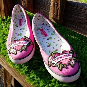 🌹 👟 BETSEY JOHNSON  PINK🎀 LOAFERS  SIZE 9 🎀